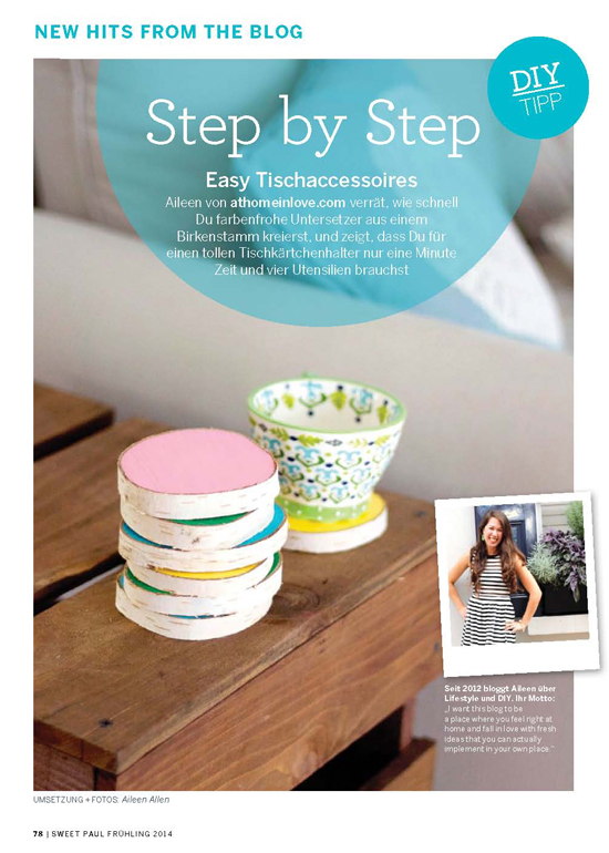 My DIY coasters in Sweet Paul magazine