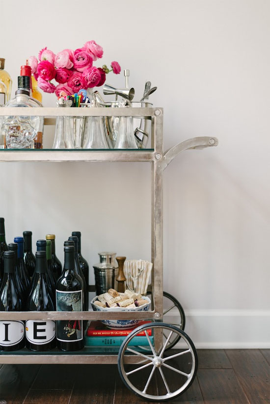 5 creative ways to use a bar cart