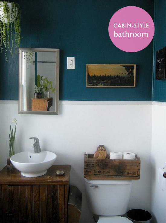 Bathroom inspiration for your cabin