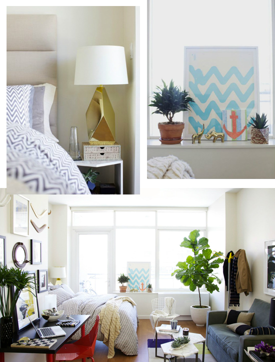Chic, colorful bedroom