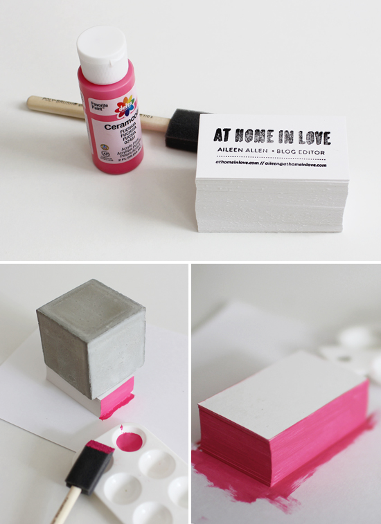 Edge-painting business cards