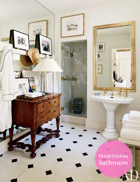 Traditional bathroom: Get the look