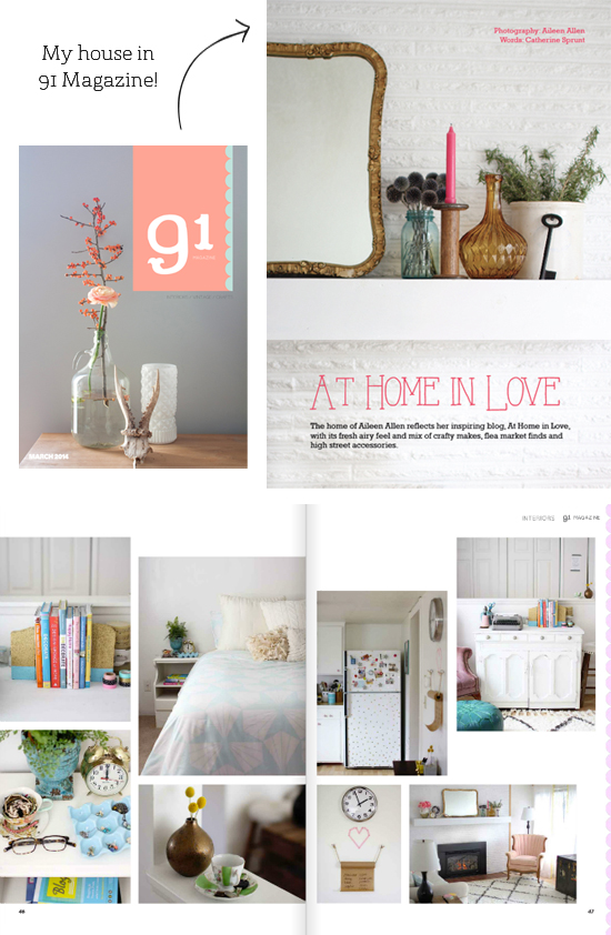 My house in 91 Magazine // At Home in Love