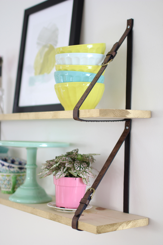 Belt strap shelves