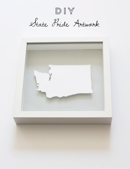 DIY state pride artwork // At Home in Love