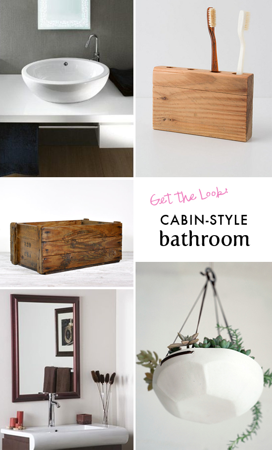 Get the look: Cabin-style bathroom