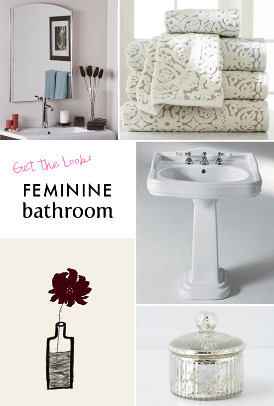 Get the look: Feminine bathroom