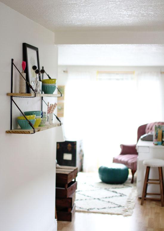DIY belt strap shelves