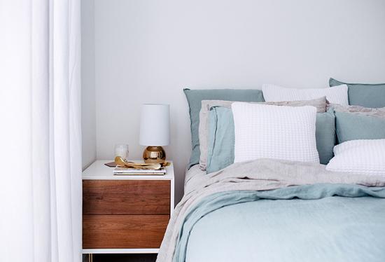 Pretty, serene bedroom