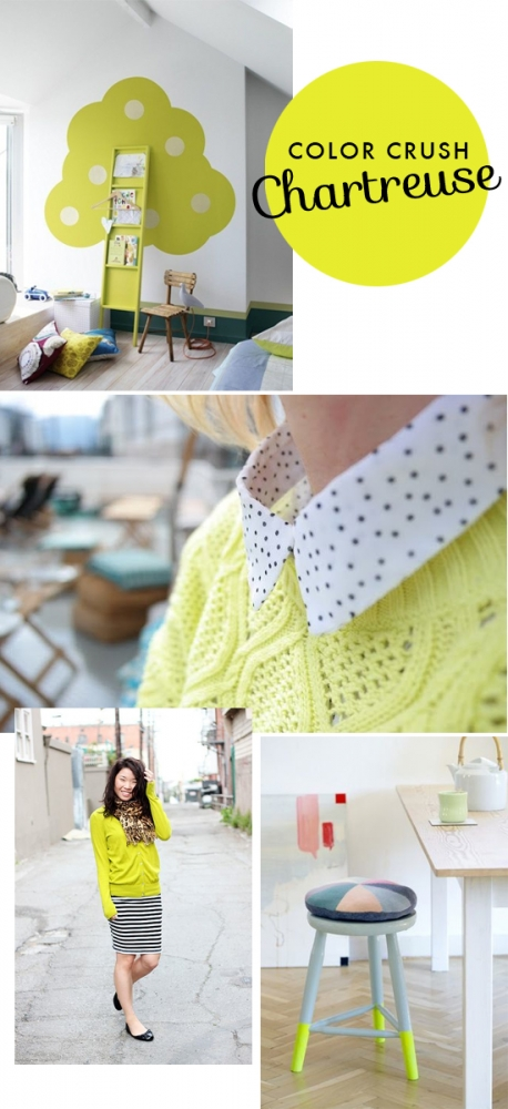 Color crush: Chartreuse // At Home in Love