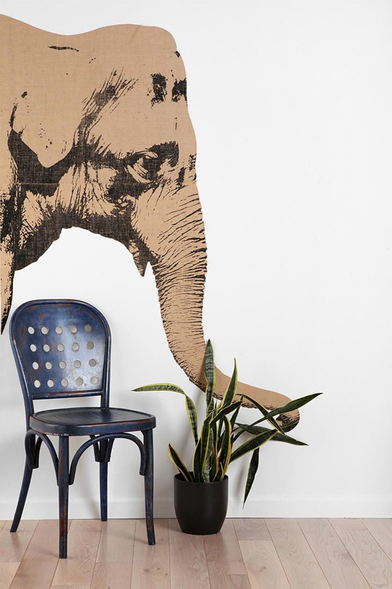 Elephant wall decal from Urban Outfitters