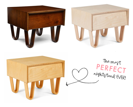 Modernica nightstands (I'm totally obsessed)