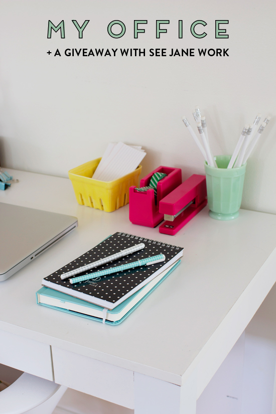 My Office + A Giveaway with See Jane Work