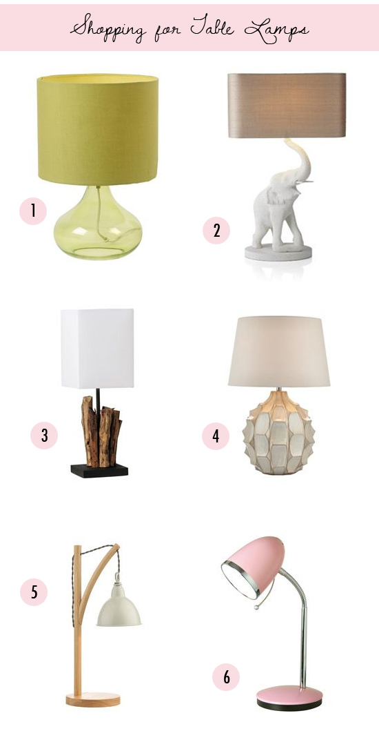 Shopping for table lamps // At Home in Love