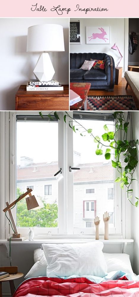 Table lamp inspiration // At Home in Love