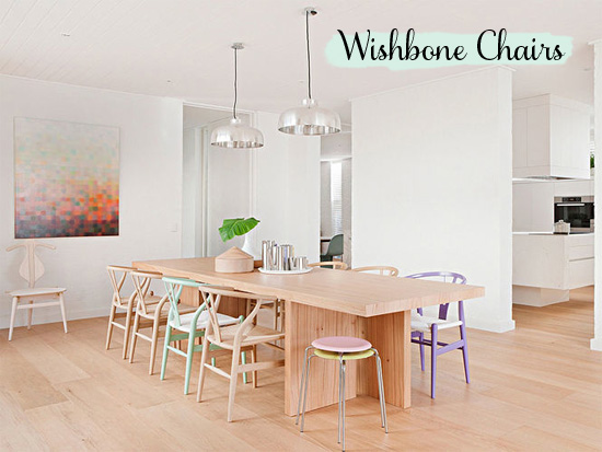 Wishbone chairs // At Home in Love