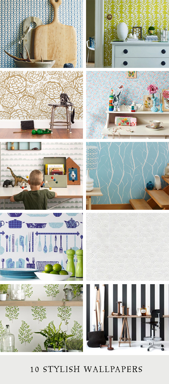 10 Stylish Wallpapers // At Home in Love