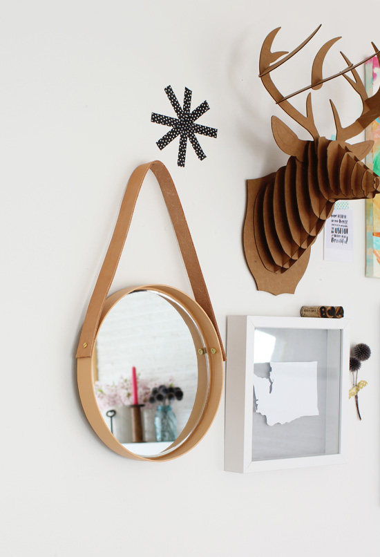 DIY hanging mirror // At Home in Love