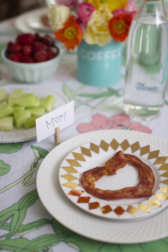 Heart shaped bacon