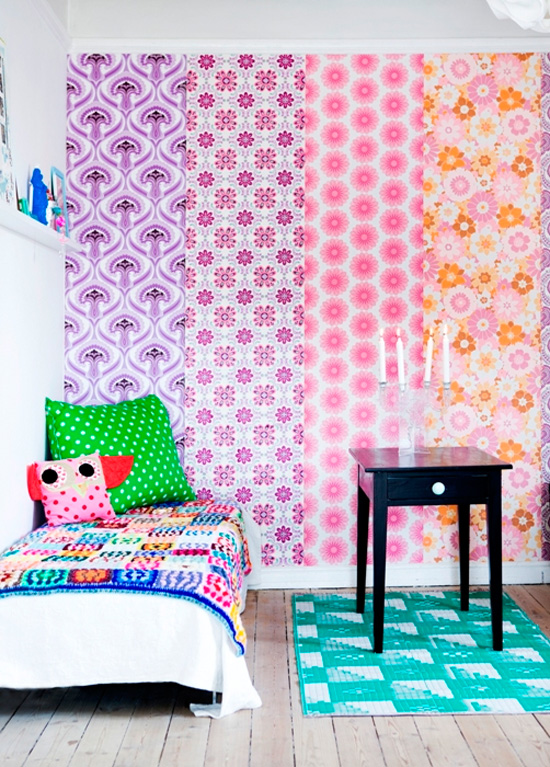 10 creative ways to use wallpaper at home in love for Unique wallpaper for home