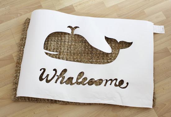 DIY Whalecome Mat
