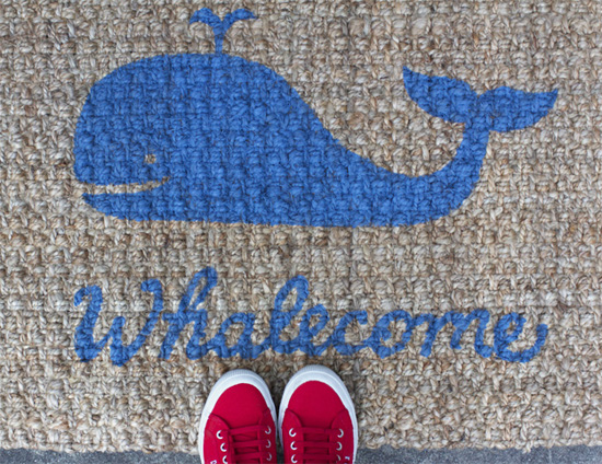 How to add a DIY design to a doormat