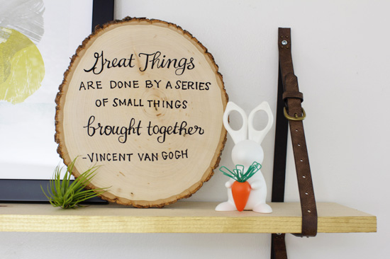 """Great things are done by a series of small things brought together."" --Vincent Van Gogh"
