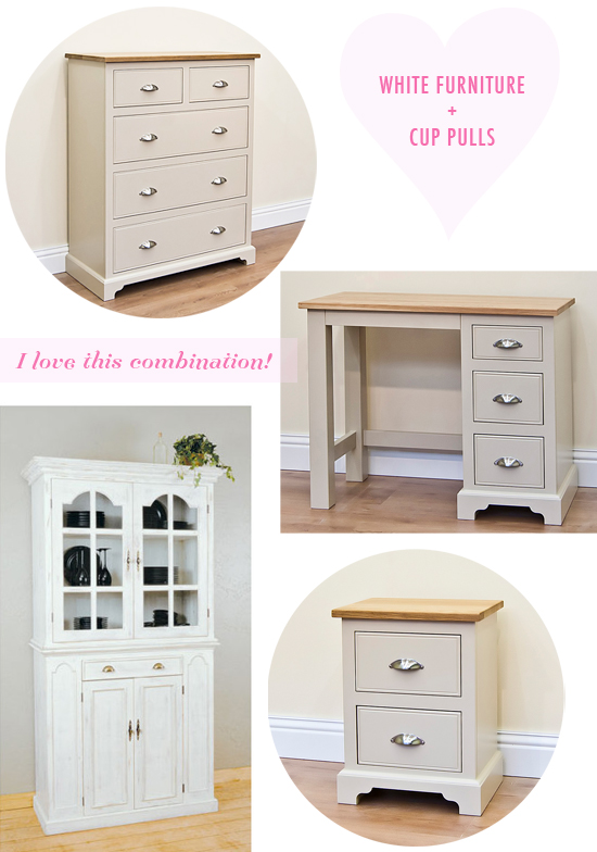 White furniture + cup pulls…the perfect combination
