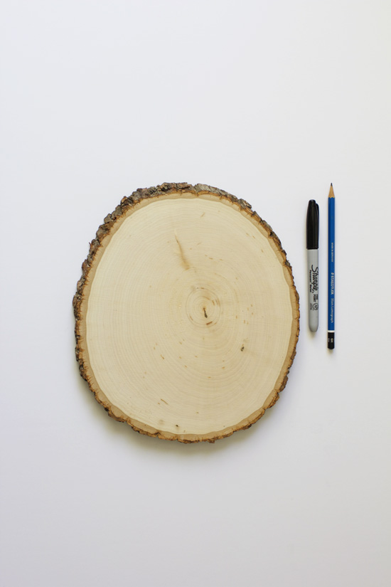 DIY wood round artwork