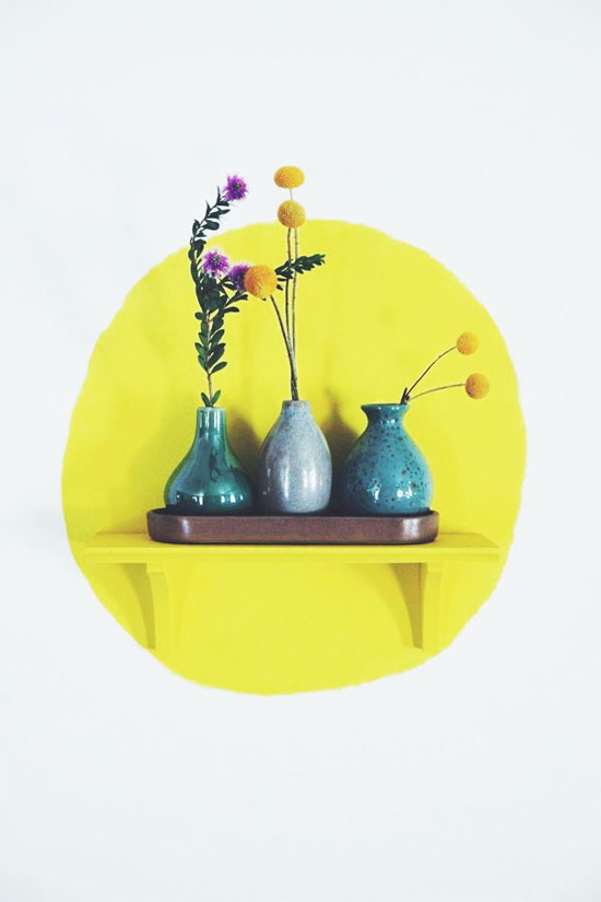 Painted circle and matching shelf
