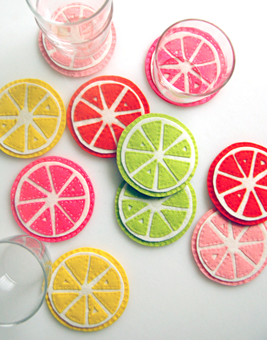 Citrus coasters (cute!)