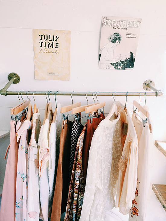 Pretty exposed closets // At Home in Love