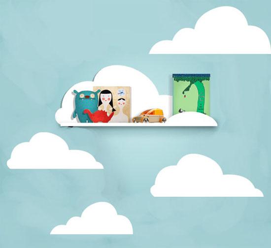 Cute DIY: Cloud shelf