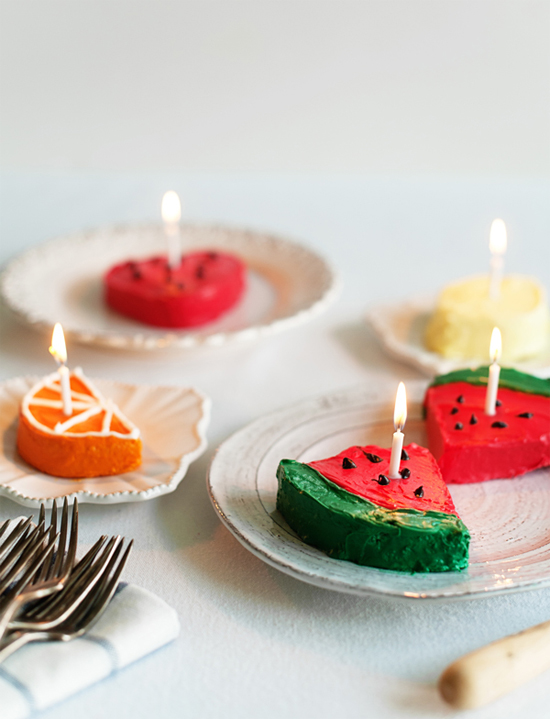 Cute fruit cakes & other fruit-themed DIYs