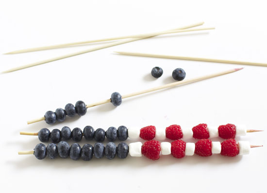 DIY berry kabobs for the Fourth of July