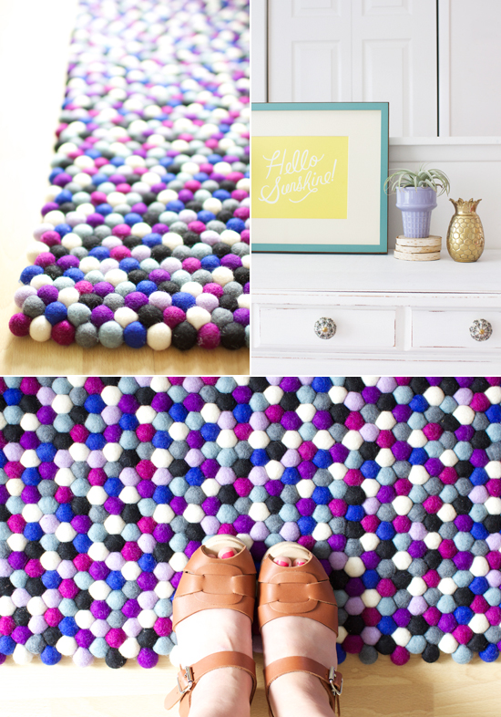 Felt Ball Rugs At Home In Love