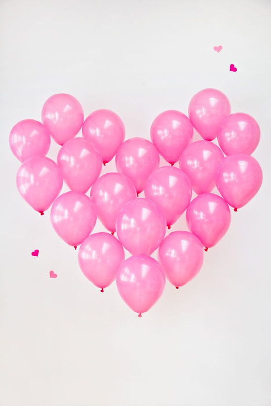 Heart of balloons…would be awesome at a wedding