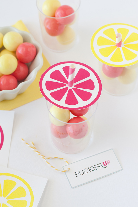 Printable lemonade toppers