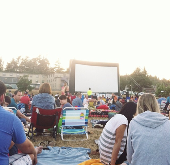 Go to an outdoor movie this summer