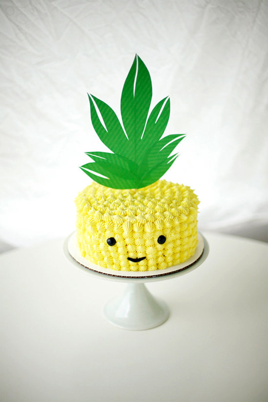 Adorable…pineapple cake!