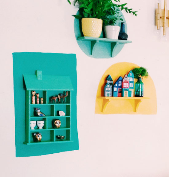 Shapes and shelves
