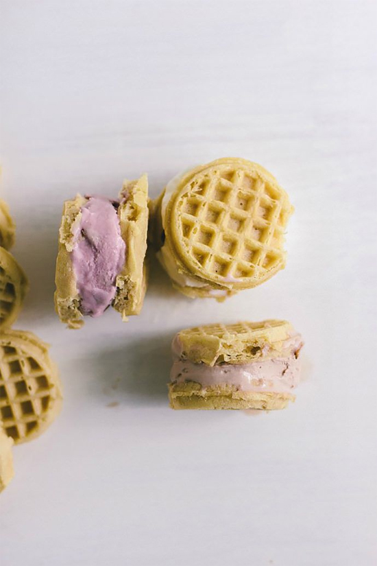 Waffle ice cream sandwiches?! Freaking genius, don't you think?