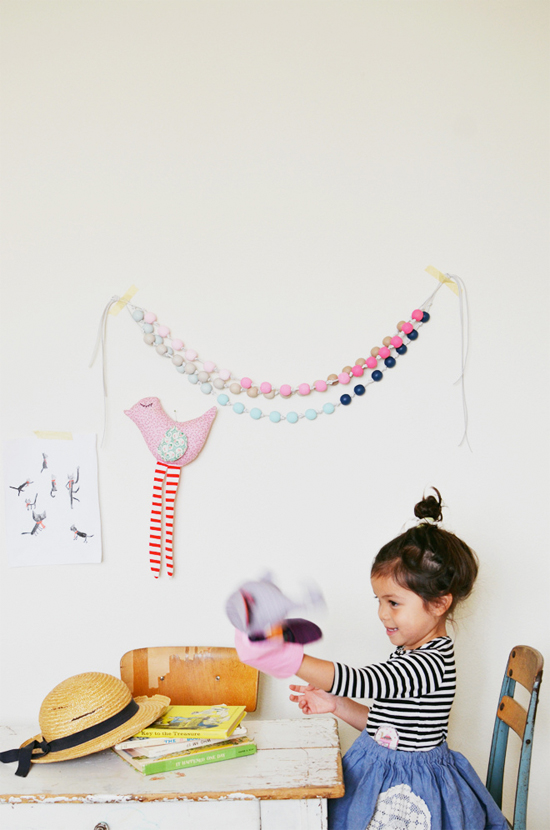 DIY ombre wood bead garland