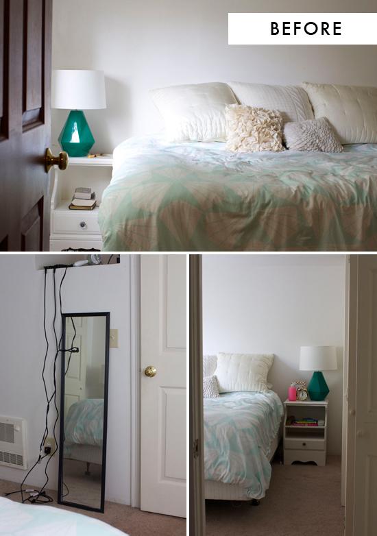 Bedroom makeover before
