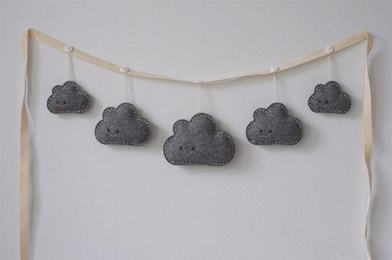 Cute cloud garland