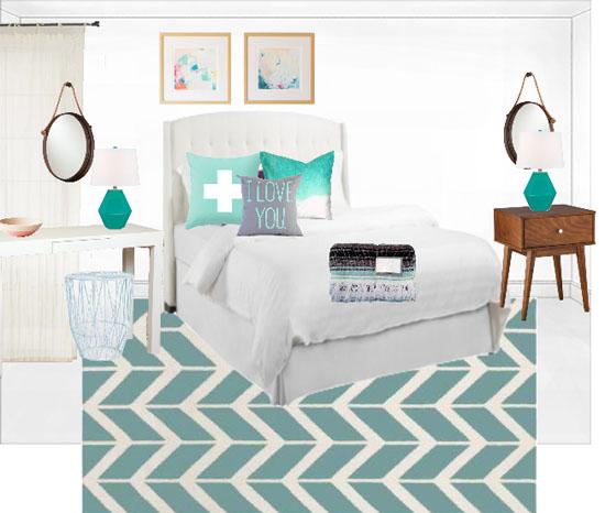 Bedroom makeover design board