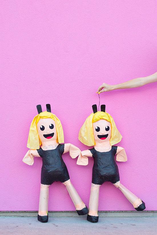 DIY emoji pinatas