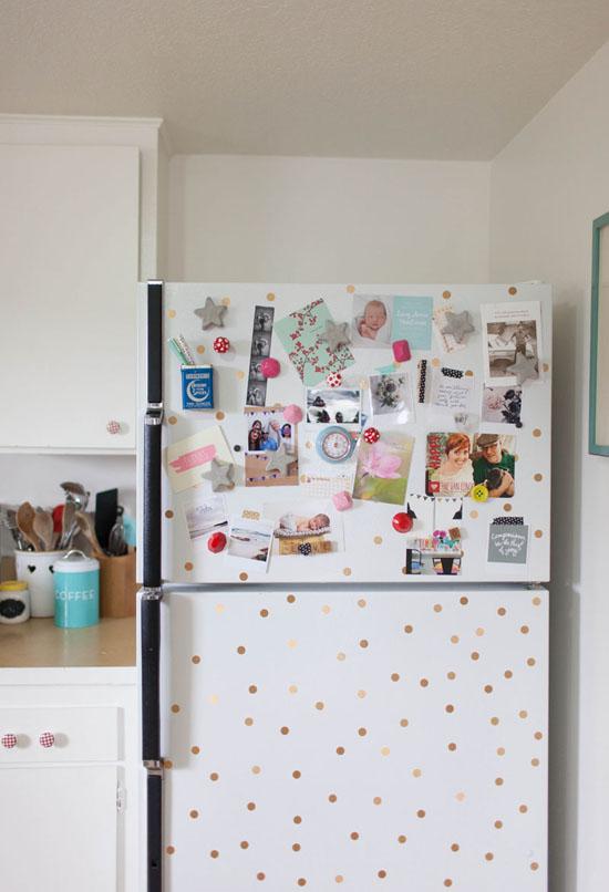 Polka dot fridge