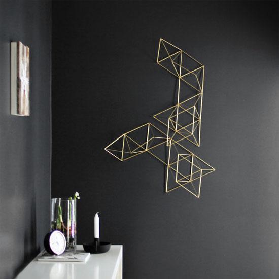 Geometric art sculpture