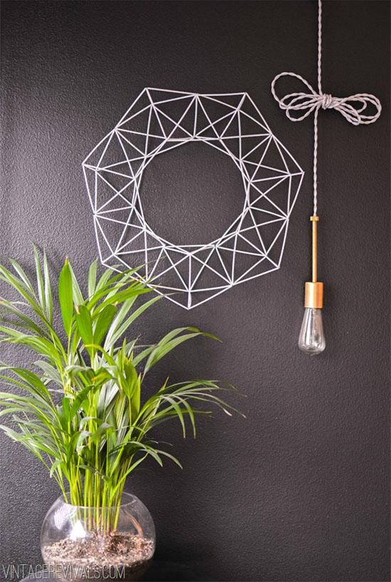 DIY himmeli wreath